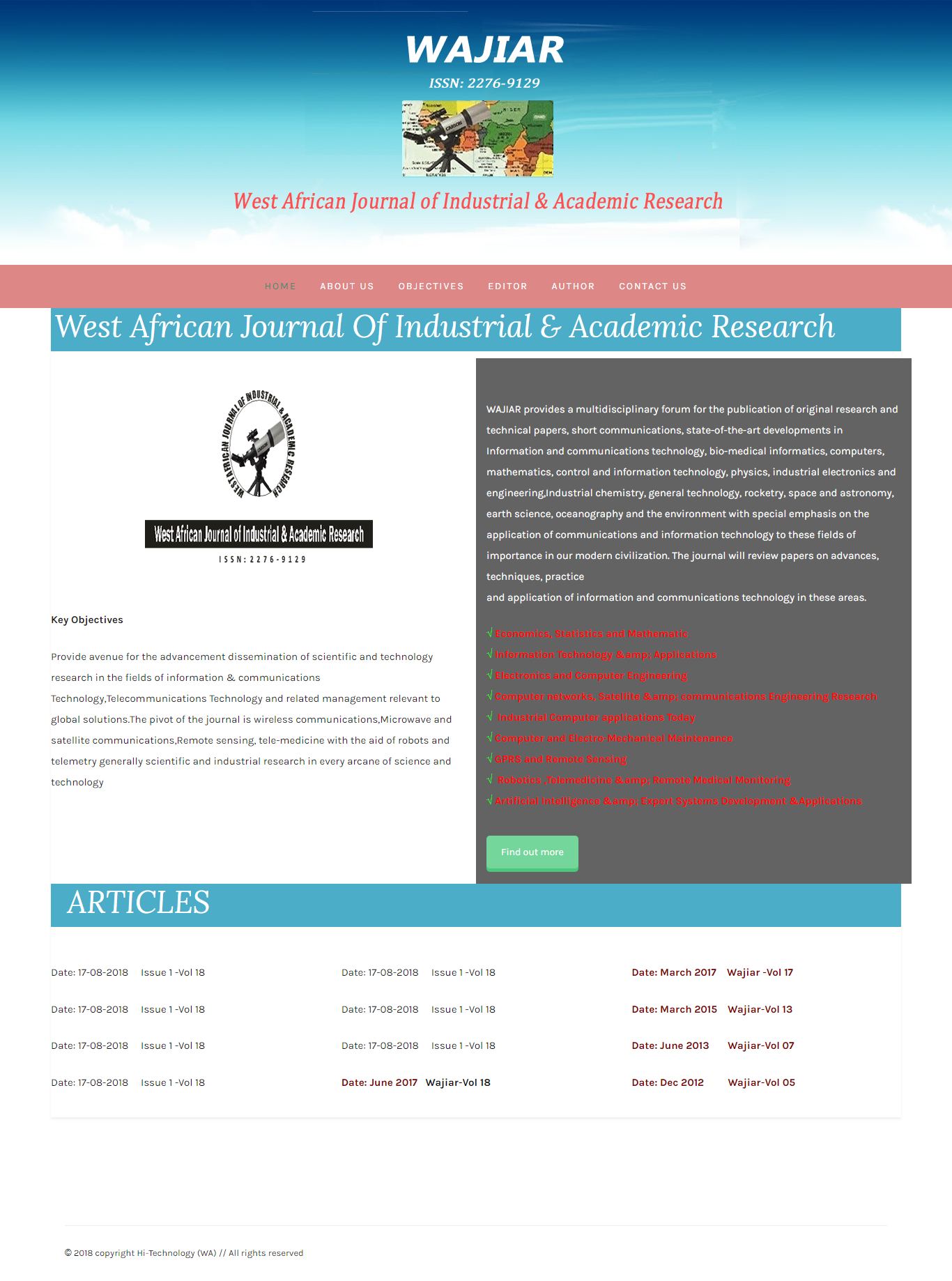 Wajiaredu-Web Design for publication of original research and technical papers